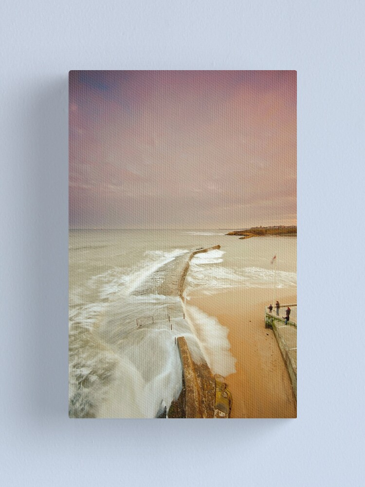 Alternate view of Avoiding the waves Canvas Print