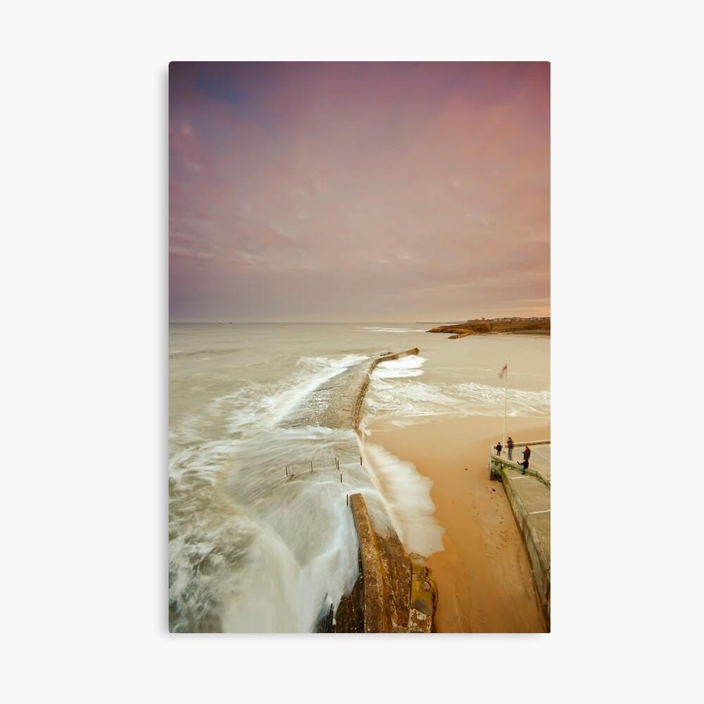 Avoiding the waves Canvas Print