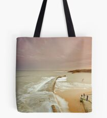 Avoiding the waves Tote Bag