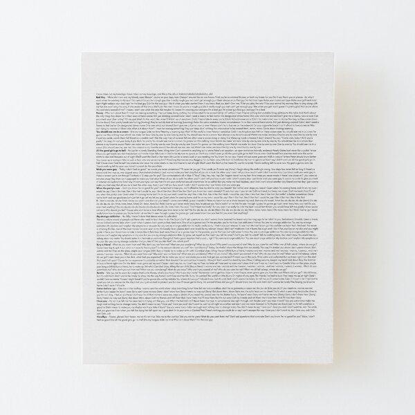 Every lyrics from BILLIE EILISH Wood Mounted Print