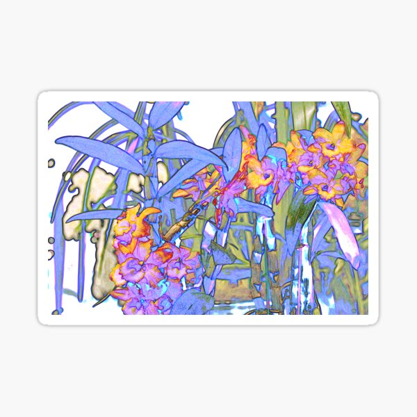 Flame Orchids Sticker