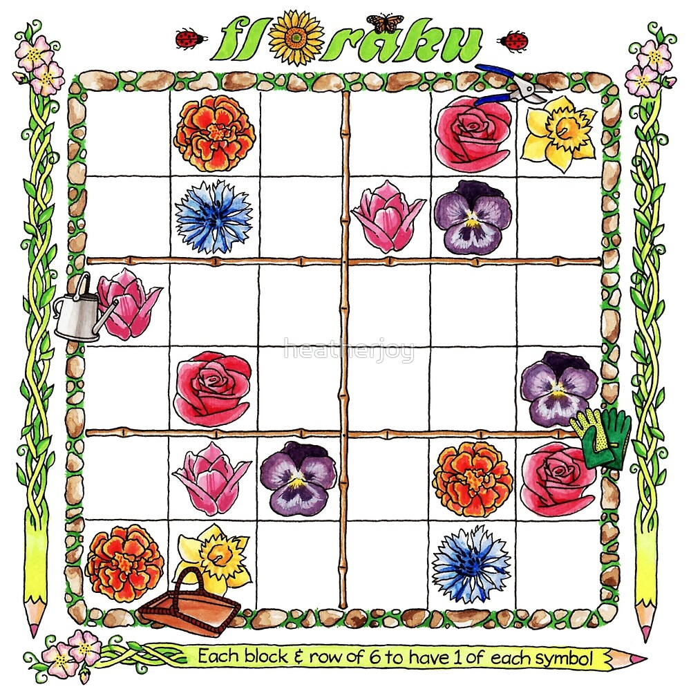 Flower garden Sudoku by heatherjoy
