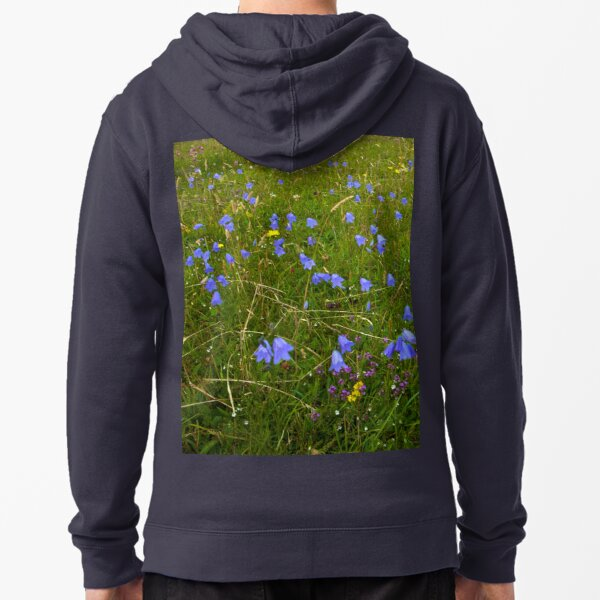 A sea of Harebells, Rossbeg, Co Donegal Zipped Hoodie