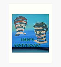 The Couple, HAPPY ANNIVERSARY Art Print