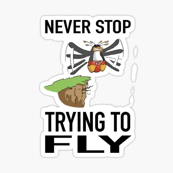 Flying Penguin Sticker