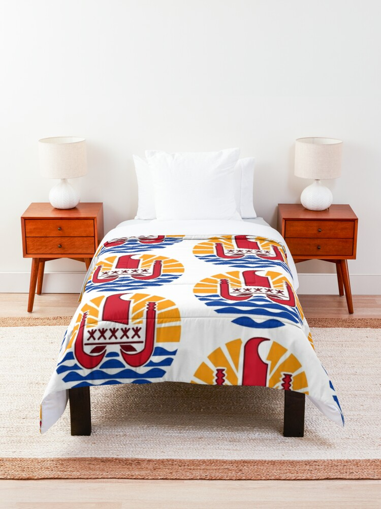 Alternate view of French Polynesia Coat of Arms Comforter
