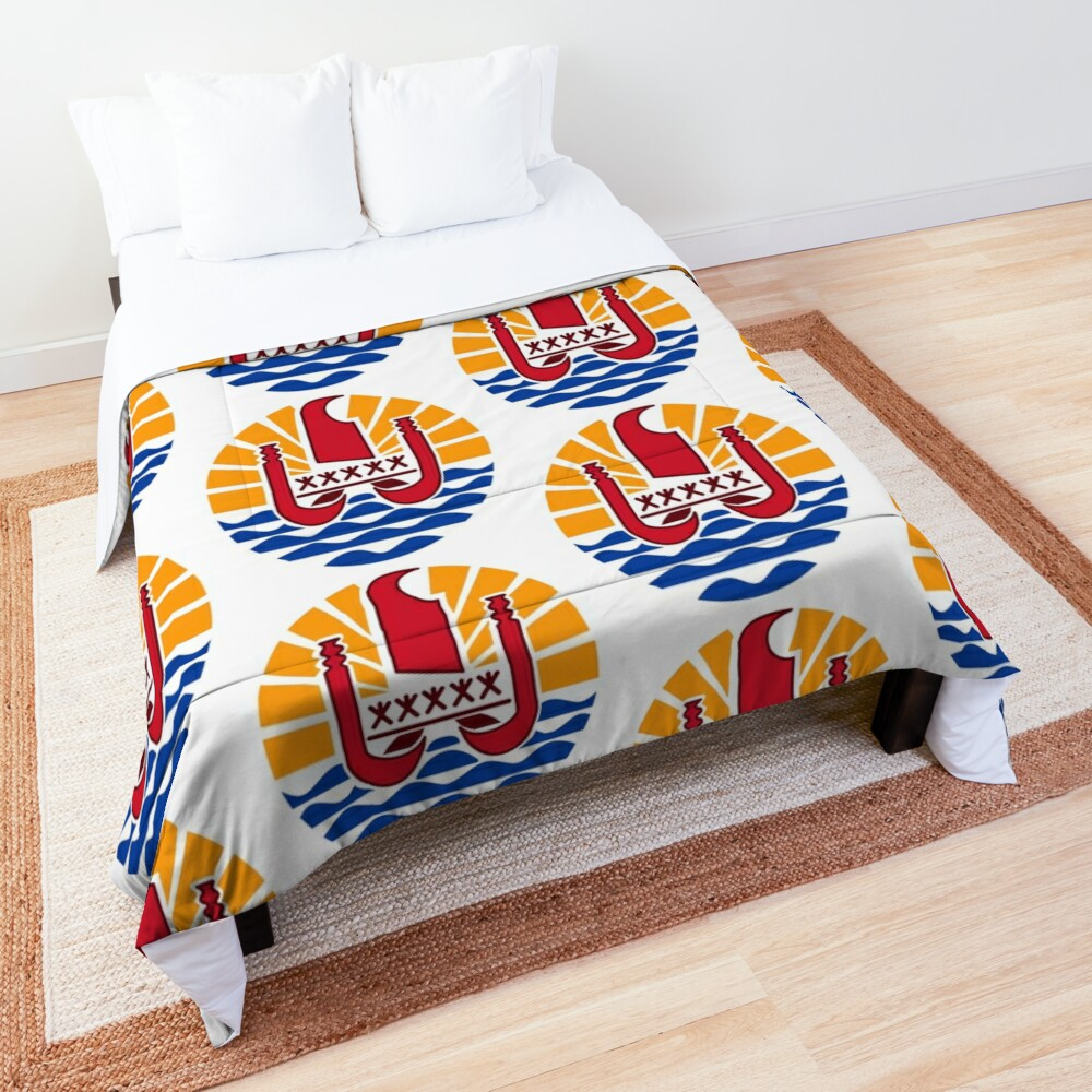 French Polynesia Coat of Arms Comforter