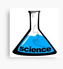 Science Beaker Blue Canvas Print