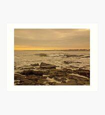 Sunrise at Whitley Bay Art Print