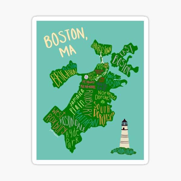 Map of Boston Sticker