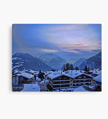 Verbier: Night Closes In Canvas Print