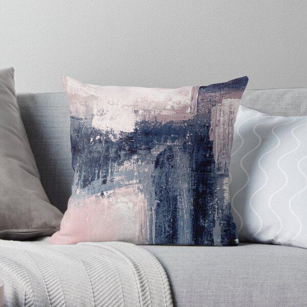 pink and navy 1 Throw Pillow