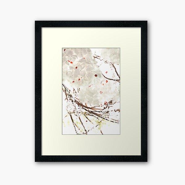 Snow Leaves Framed Art Print