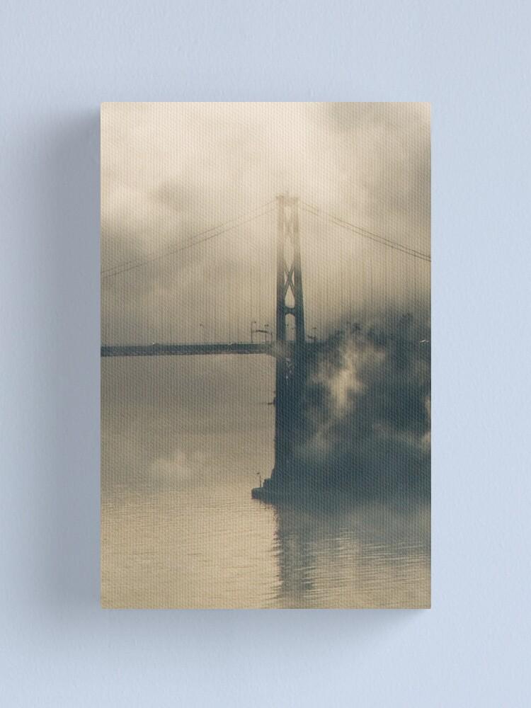 Alternate view of Lions Gate Bridge in Fog Canvas Print