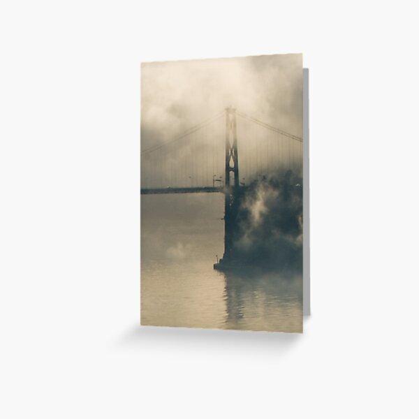 Lions Gate Bridge in Fog Greeting Card