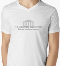 The Sarcasm Foundation Men's V-Neck T-Shirt
