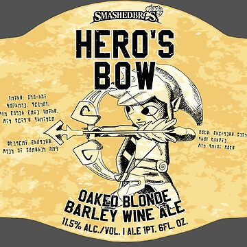 Smashed Bros. Hero's Bow Oaked Blonde Barley Wine Ale (#3) by magmakensuke