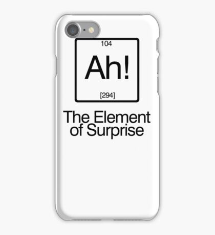The Element of Surprise iPhone Case/Skin