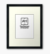 The Element of Surprise Framed Print