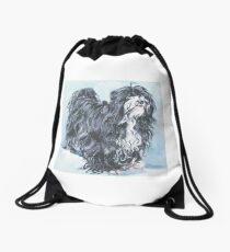 Tibetan Terrier Fine Art Painting Drawstring Bag