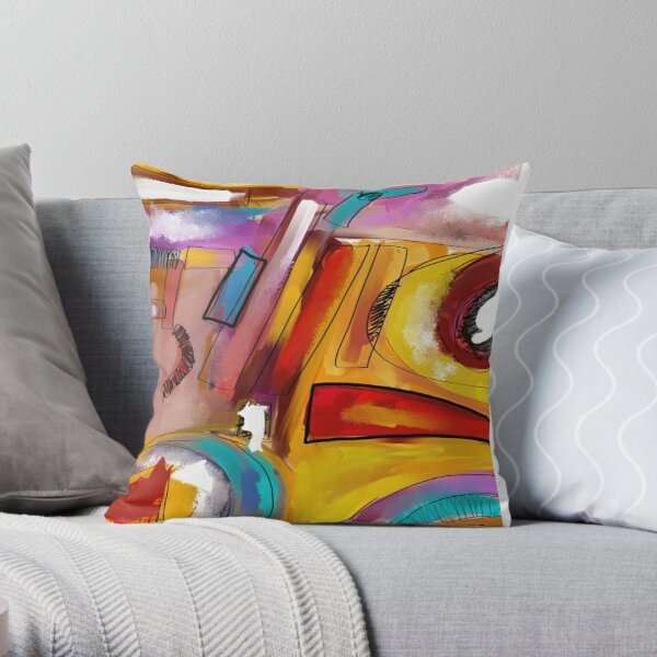 Abstract 1501 Throw Pillow