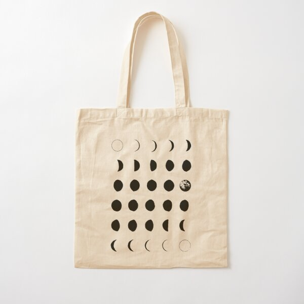 Moon Phases No. 2 Cotton Tote Bag