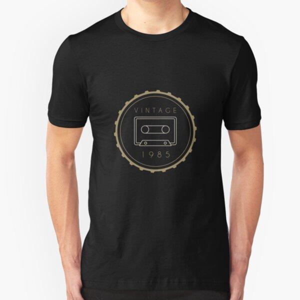 Vintager Kassetten-Geburtstags-Entwurf 1985 Slim Fit T-Shirt