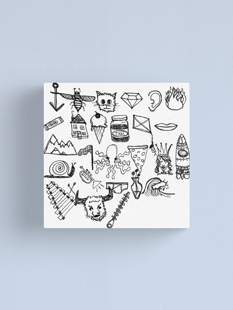 Alternate view of ABC Doodle Canvas Print