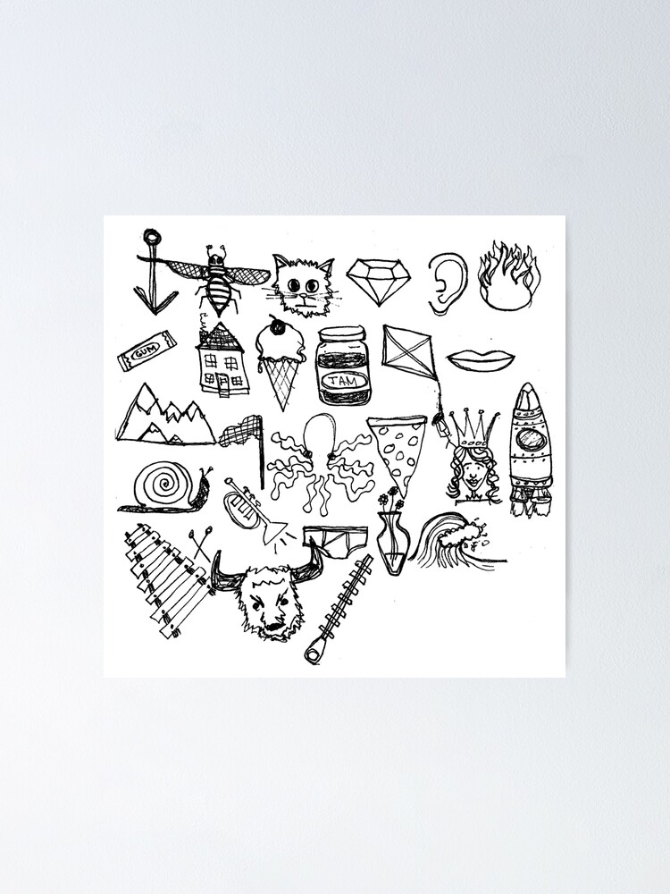 Alternate view of ABC Doodle Poster
