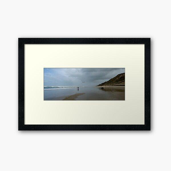 Home Sweet Home - Baylys Beach NZ Framed Art Print