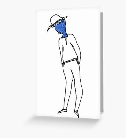 feeling blue Greeting Card