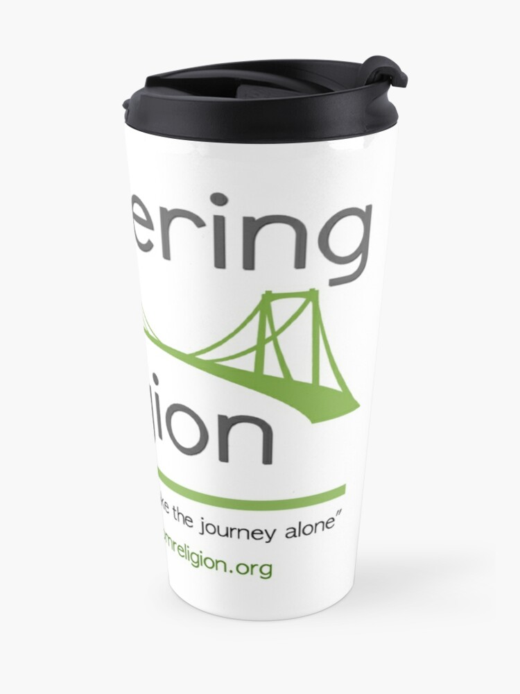Alternate view of Recovering from Religion logo Travel Mug