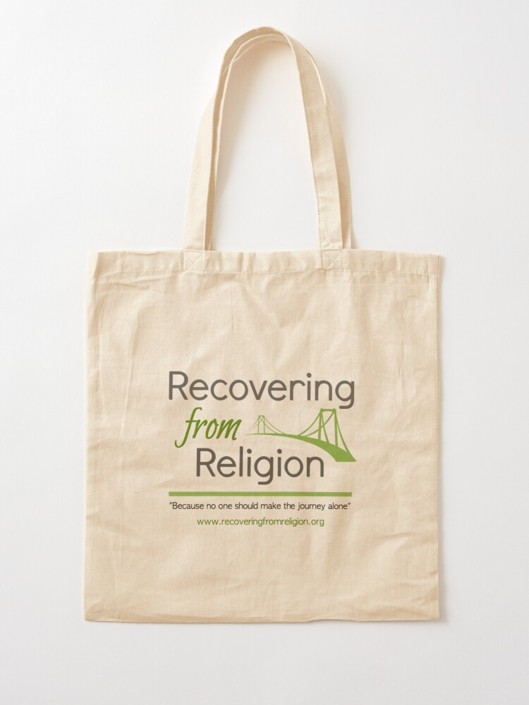 Alternate view of Recovering from Religion logo Tote Bag