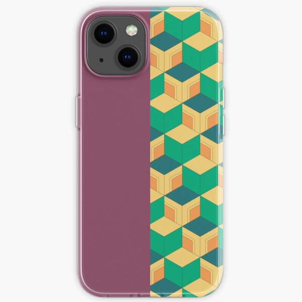 Demon Slayer Tomioka Giyuu haori pattern (1.1 - contrast) iPhone Soft Case