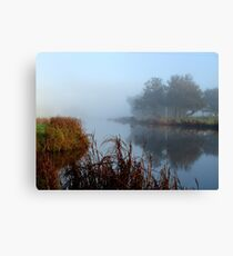 Foggy Reflections Canvas Print