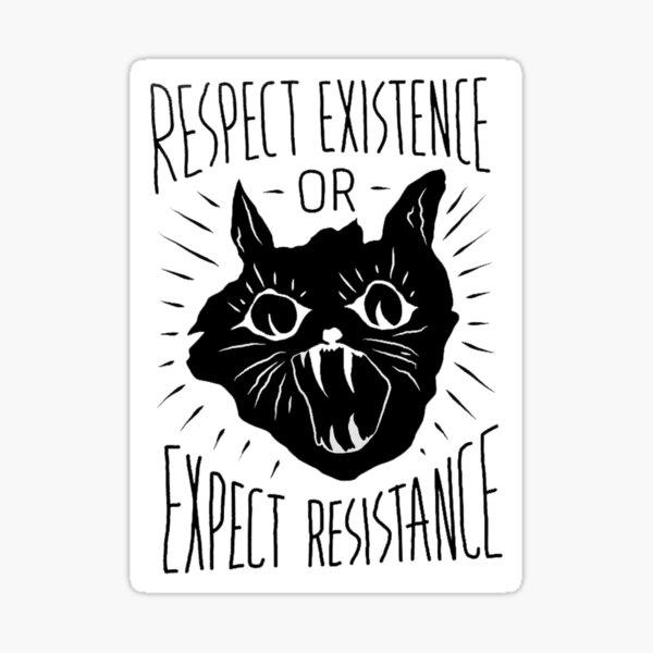 Respetar la resistencia o esperar resistencia Pegatina