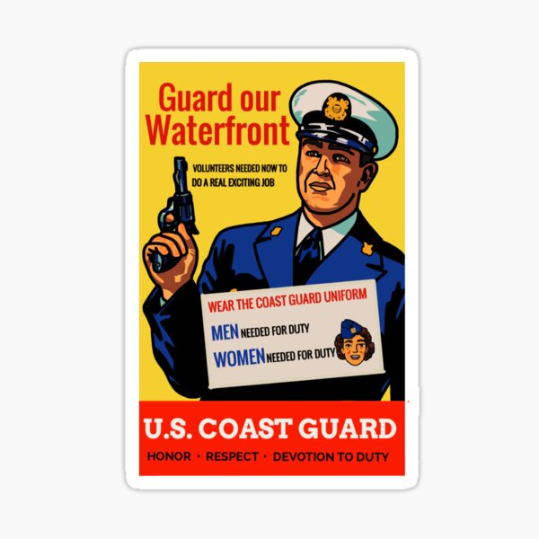 Coast Guard - Guard Our Waterfront Sticker