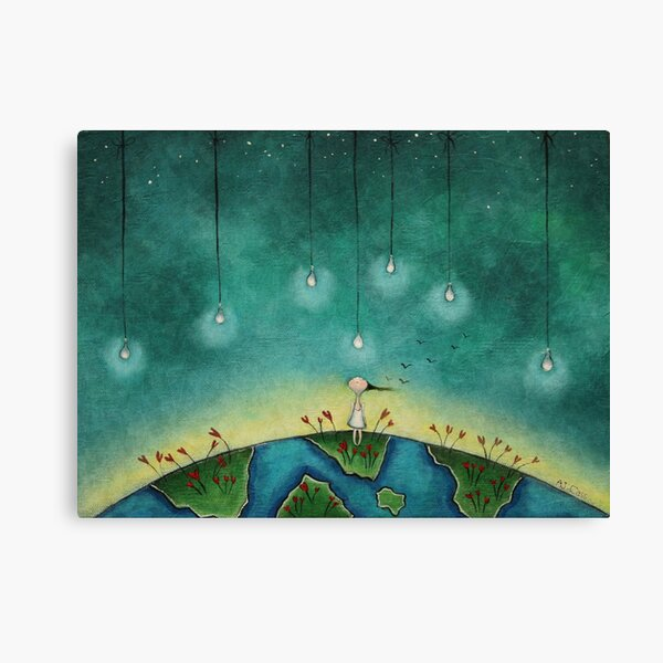 You light up my world Canvas Print