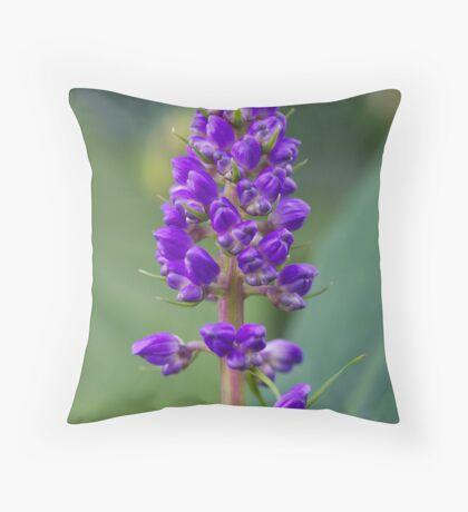 Purple Flower - Lupine Throw Pillow