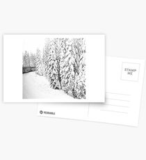 Over the hill and thru the woods... Postcards