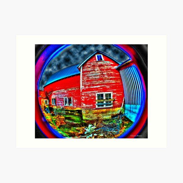 Psychadelic Barn Art Print