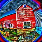 Psychadelic Barn by Clayton Bruster