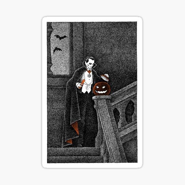 Count Dracula's Halloween Sticker