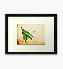 Arabic Calligraphy - Rumi - Light Framed Print