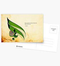 Arabic Calligraphy - Rumi - Light Postcards
