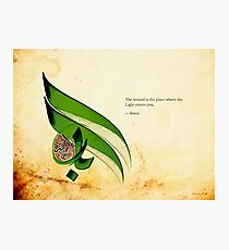 Arabic Calligraphy - Rumi - Light Photographic Print
