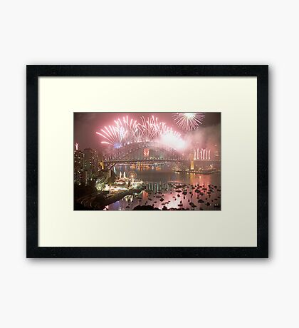 City Of Light # 2 - Sydney Harbour New Years Eve  Framed Print