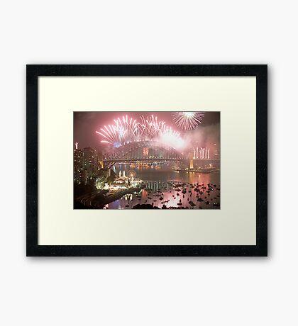 City Of Light # 2 - Sydney Harbour New Years Eve  Framed Print