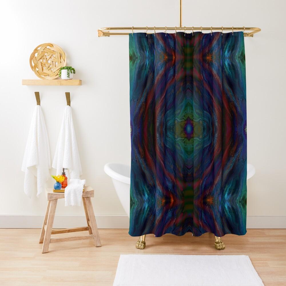 Aurora: rainbow Shower Curtain
