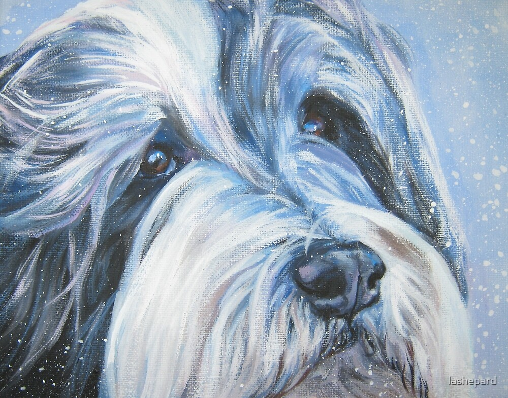 Bearded Collie Fine Art Painting by lashepard